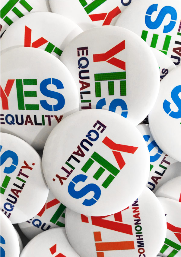 Yes Equality Badges